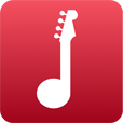play-guitar-notes-icon-red-apple