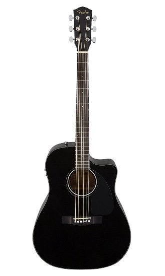 fender-acoustic-guitar---black