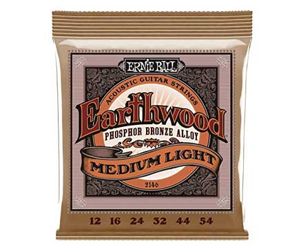 set of Ernie-Ball-2146-Earthwood-Medium-Light